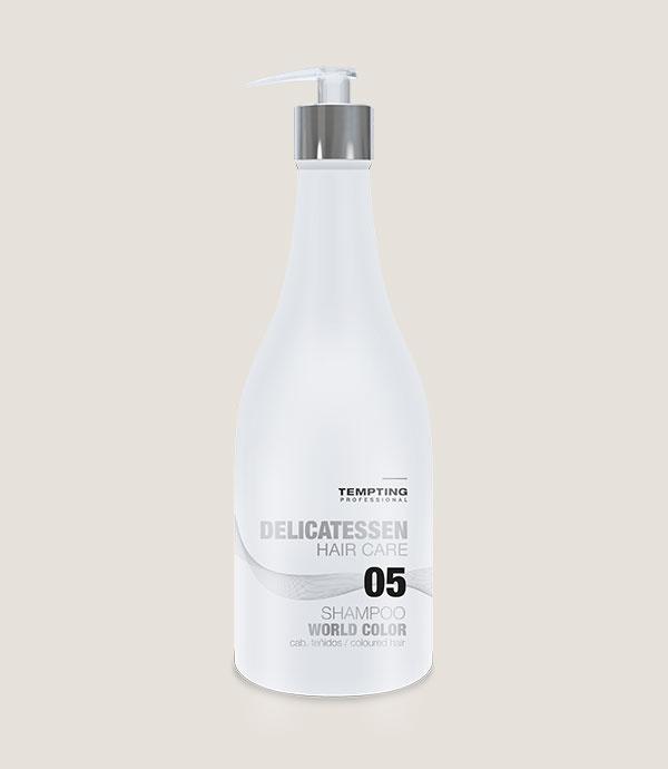 WORLD COLOUR šampoon värvitud juustele sisaldab makadaamiaõli ja vaarikaekstrakti